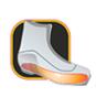 Жесткая промежуточная подошва (торсионная пластина) исключает скручивание подошвы и улучшает фиксацию ботинка в креплении лыжи, одновременно создает дополнительную реактивную силу при толчке