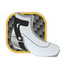 Карбоновая манжета обеспечивает отличную жесткую фиксацию голеностопного сустава лыжника