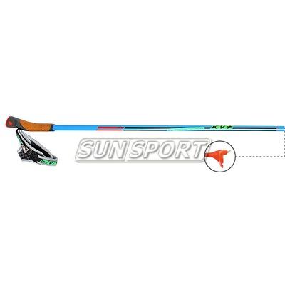 Палки лыжные KV+ Tornado Clip Blue (100% Carbon) (фото, вид 1)