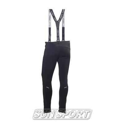 Разминочные штаны на лямках NordSki М Premium мужские черный (фото, вид 1)