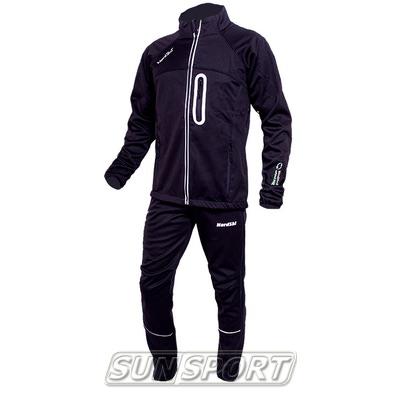 Разминочный костюм NordSki M SoftShell мужской черн/серый (фото, вид 1)