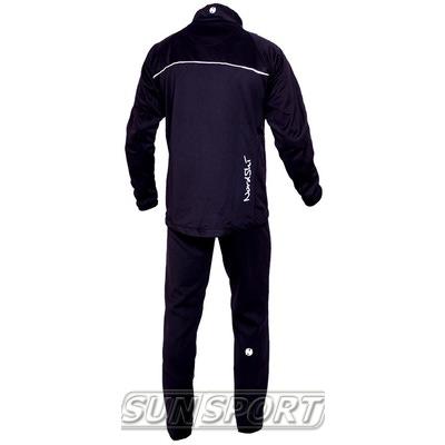 Разминочный костюм NordSki M SoftShell мужской черн/серый (фото, вид 2)
