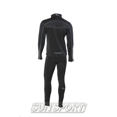 Разминочный костюм M Nordski SoftShell черн/серый (фото, вид 1)