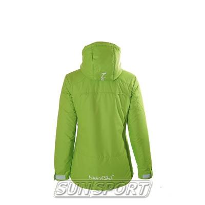 Утепленная куртка W Nordski лайм (фото, вид 2)