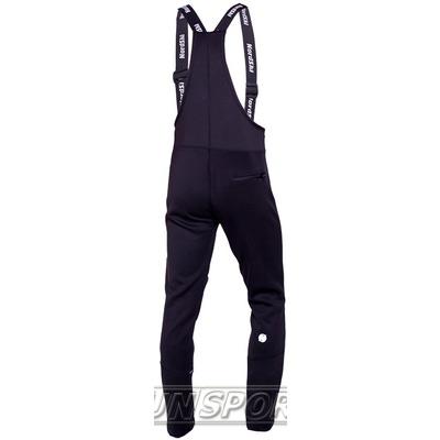 Разминочные штаны на лямках NordSki JR Active детский черный (фото, вид 1)