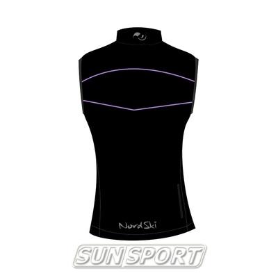 Жилет W Nordski SoftShell черн/фиолет (фото, вид 1)