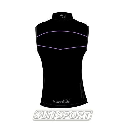 Жилет NordSki W SoftShell женский черн/фиолетовый (фото, вид 1)
