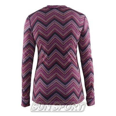 Термобелье Рубашка Craft W Mix&Match женская зигзаг (фото, вид 1)