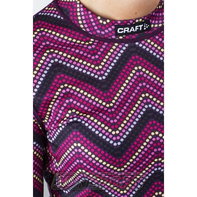 Термобелье Рубашка Craft W Mix&Match женская зигзаг (фото, вид 2)