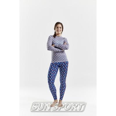 Термобелье Рубашка Craft W Mix&Match женская полька (фото, вид 3)