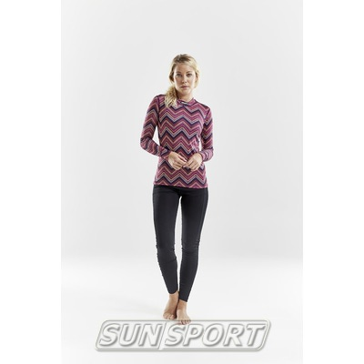 Рубашка термо Craft Mix&Match жен зигзаг (фото, вид 4)