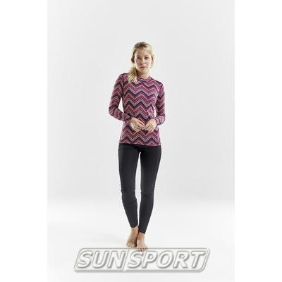 Термобелье Рубашка Craft W Mix&Match женская зигзаг (фото, вид 4)