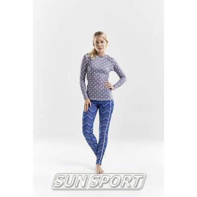 Термобелье Рубашка Craft W Mix&Match женская полька (фото, вид 4)