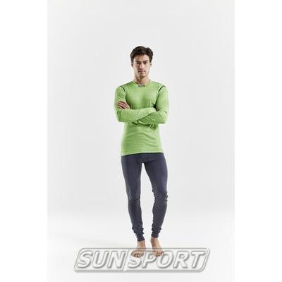 Термобелье Рубашка Craft M Mix&Match мужская салатовый (фото, вид 2)
