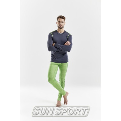 Термобелье Рубашка Craft M Mix&Match мужская гравий (фото, вид 2)