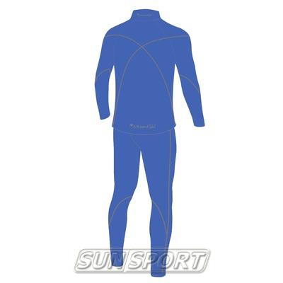 Комбинезон лыжный JR Nordski Active синий (фото, вид 1)