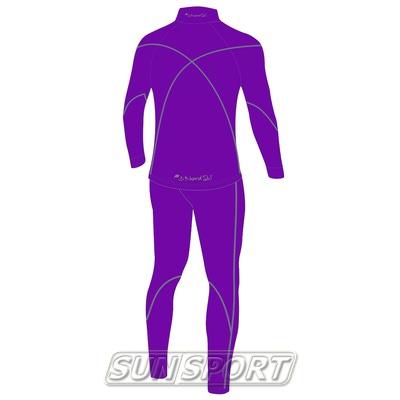 Комбинезон лыжный W Nordski Active фиолетовый (фото, вид 1)