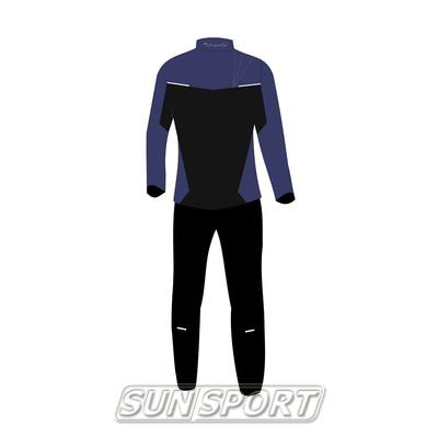 Разминочный костюм NordSki JR Premium SoftShell детский Navy (фото, вид 1)