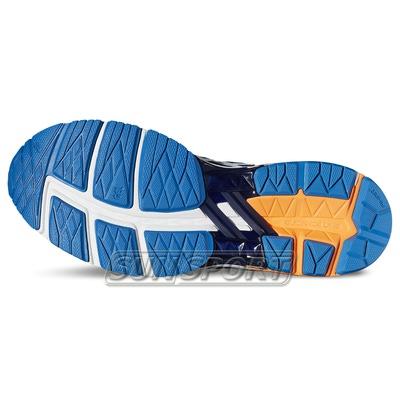 Кроссовки беговые Asics M GT-1000 5 оранж/синий (фото, вид 4)