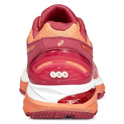 Кроссовки беговые Asics W GT-2000 5 красн/оранжевый (фото, вид 2)