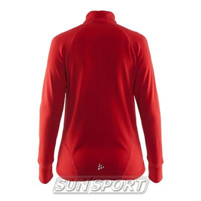 Толстовка Craft W Micro Fleece флис женская красный (фото, вид 1)