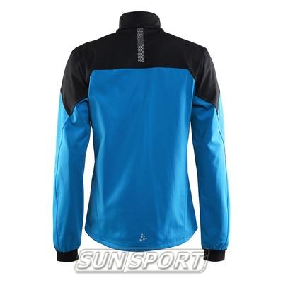 Разминочная куртка Craft M Voyage мужская син/черный (фото, вид 1)