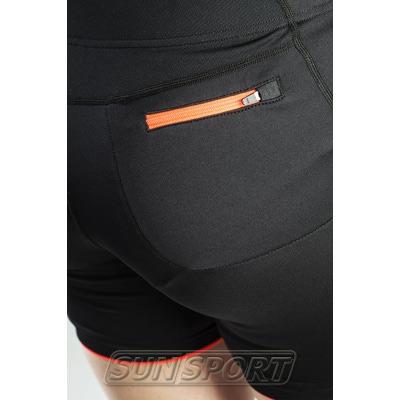 Шорты Craft W Prime Run женские черн/оранжевый (фото, вид 2)