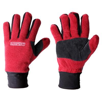 Перчатки лыжные SunSport флис с/к (фото, вид 2)