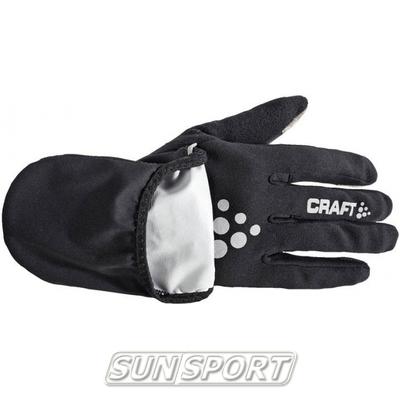 Перчатки Craft Hybrid Weather черный (фото, вид 1)