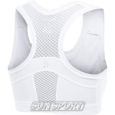 Бюстгальтер спортивный Craft Cool Sports Super Bra белый/принт (фото, вид 1)