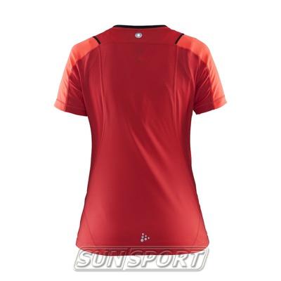 Футболка Craft W Devotion Run женская красный (фото, вид 1)