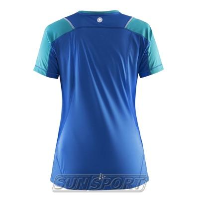 Футболка Craft W Devotion Run женская синий (фото, вид 1)