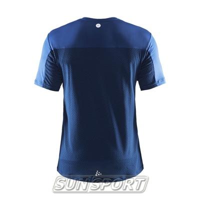 Футболка Craft M Focus Run Mesh мужская синий (фото, вид 1)