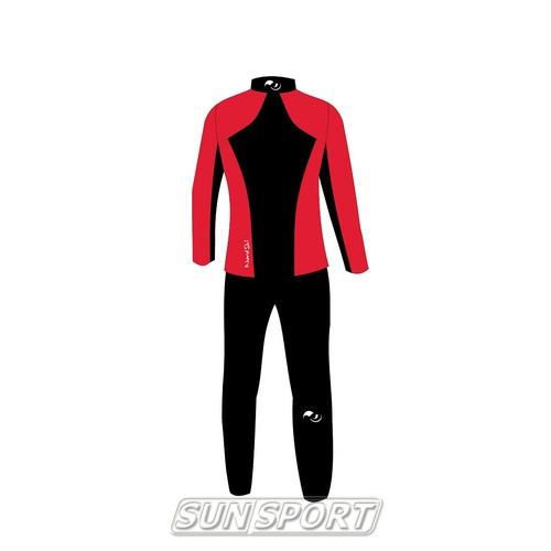 Разминочный костюм NordSki M Premium SoftShell мужской красный (фото, вид 5)