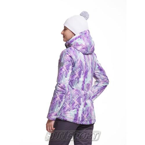 Утепленная куртка W Nordski City Violet/Mint/Grey (фото, вид 1)