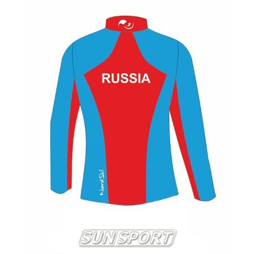 Разминочная куртка NordSki JR SoftShell детская National Blue (фото, вид 5)