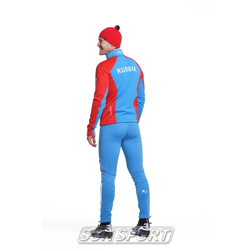Разминочный костюм NordSki M SoftShell мужской National Red (фото, вид 1)