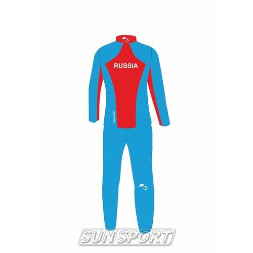 Разминочный костюм JR Nordski SoftShell National Blue (фото, вид 1)