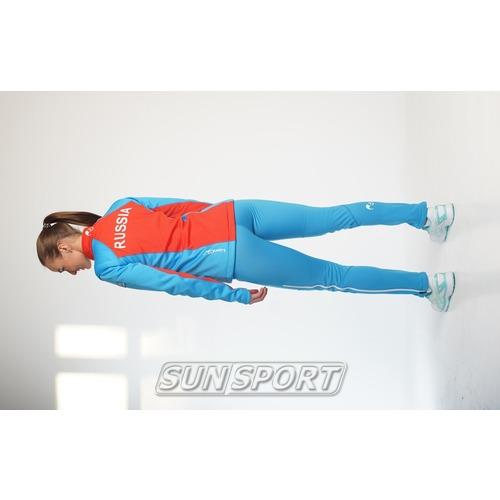 Разминочный костюм JR Nordski SoftShell National Blue (фото, вид 2)