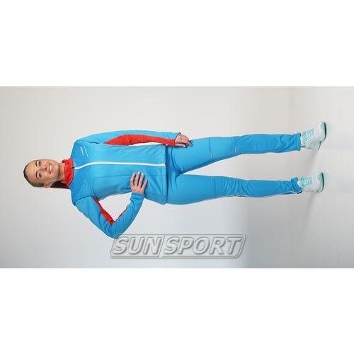 Разминочный костюм JR Nordski SoftShell National Blue (фото, вид 3)