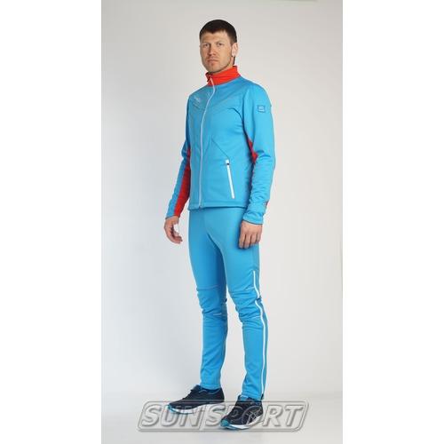 Разминочный костюм JR Nordski SoftShell National Blue (фото, вид 4)