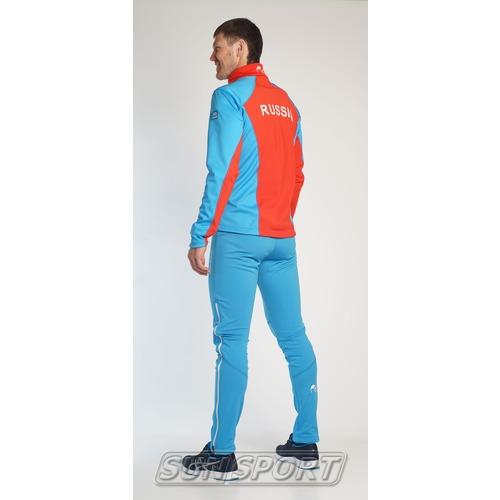 Разминочный костюм JR Nordski SoftShell National Blue (фото, вид 5)
