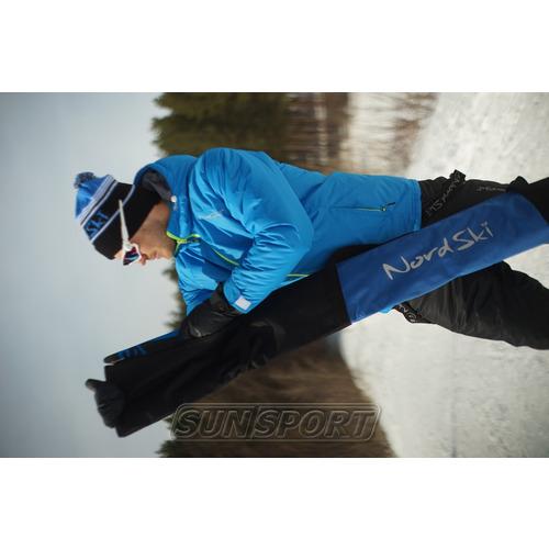 Чехол для лыж Nordski на 3 пары черн/синий (фото, вид 1)