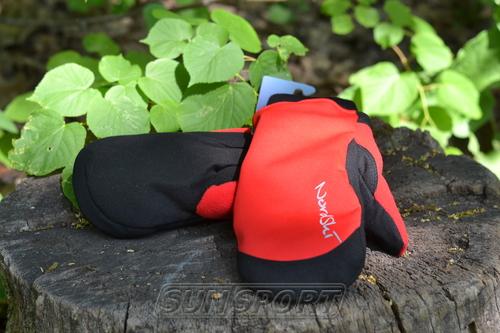 Варежки NordSki Active WS красный (фото, вид 3)