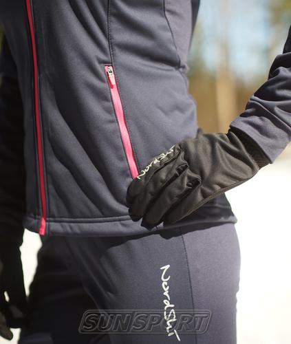 Перчатки NordSki JR Warm WS детские черный (фото, вид 1)