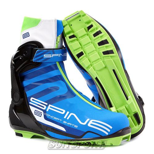 Ботинки лыжные Spine Concept Skate Pro NNN (синт) (фото, вид 1)