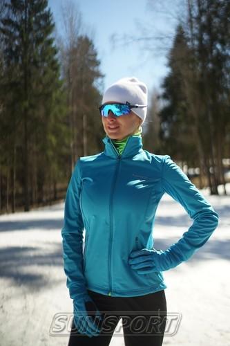 Разминочная куртка W Nordski SoftShell Motion голуб (фото, вид 2)