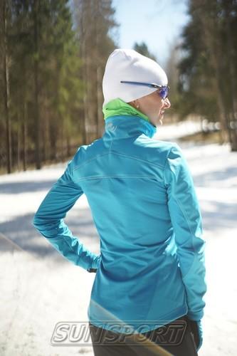 Разминочная куртка W Nordski SoftShell Motion голуб (фото, вид 3)