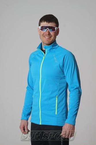 Разминочная куртка NordSki M Elite мужская синяя (фото, вид 1)
