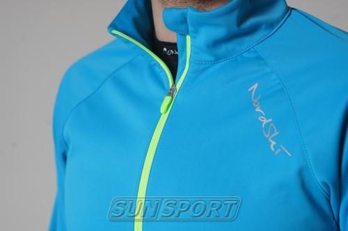 Разминочная куртка NordSki M Elite мужская синяя (фото, вид 3)